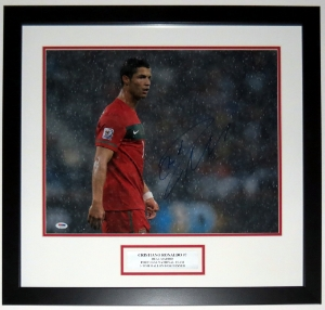 Cristiano Ronaldo Signed Team Portugal 16x20 Photo - PSA DNA COA Authenticated - Professionally Framed