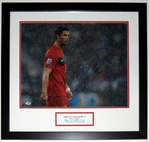 Cristiano Ronaldo Signed Team Portugal 16x20 Photo - PSA DNA COA Authenticated - Professionally Framed
