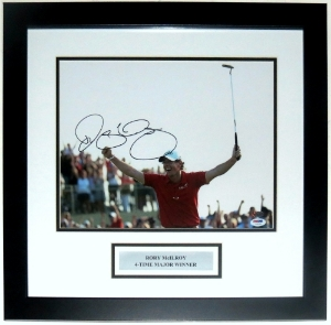 Rory Mcilroy Signed 11x14 Photo - PSA DNA COA Authenticated - Custom Framed & Plate
