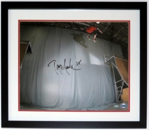 Tony Hawk Signed 24' Ollie 16x20 Photo - Steiner Sports COA Authenticated - Professionally Framed