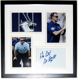 Pat Fitzgerald Signed Northwestern Wildcats Photo Compilation - BSI Authenticated - Professionally Framed 12x12