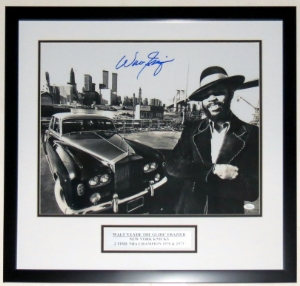 Walt Frazier Signed New York Knicks 16x20 Photo - JSA COA Authenticated - Professionally Framed & Plate