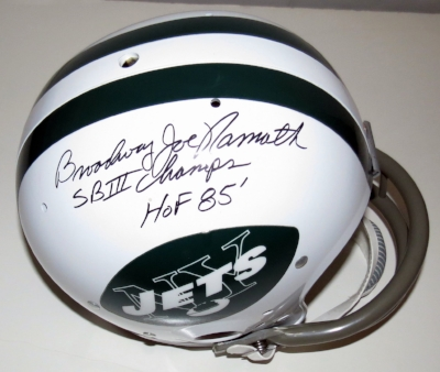 Joe Namath Signed New York Jets Super Bowl III Commemorative Full Size Helmet - Steiner Sports Authenticated