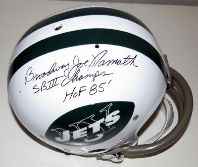 Joe Namath Signed New York Jets Super Bowl III Commemorative Full Size Helmet - Steiner Sports Authenticated