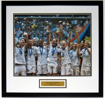 Christie Rampone Signed Team USA 16x20 Photo - JSA COA Authenticated - Progessionally Framed