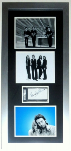 Paul McCartney Signed Beatles Photo Compilation - PSA DNA COA Authenticated -Professionally Framed 36x14