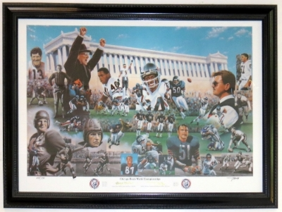 Chicago Bears Legends 32x40 Lithograph - Professionally Framed