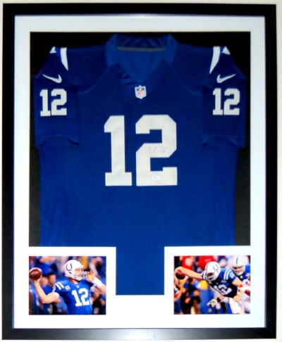 Andrew Luck Signed Indianapolis Colts Jersey - JSA COA Authenticated - Professionally Framed & 2 8x10 Photo - 32x42