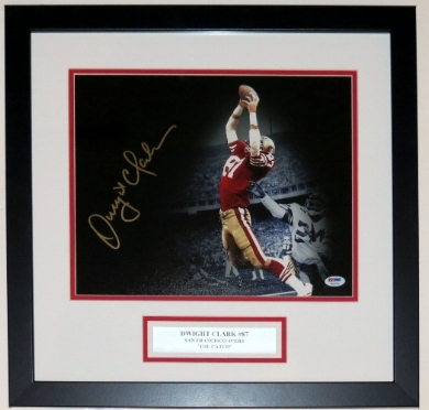 Dwight Clark Signed San Francisco 49'ers 11x14 Photo - PSA DNA COA Authenticated - Professionally Framed