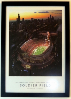 Chicago Bears Solider Field Commemorative 18x30 Photo - Professionally Framed