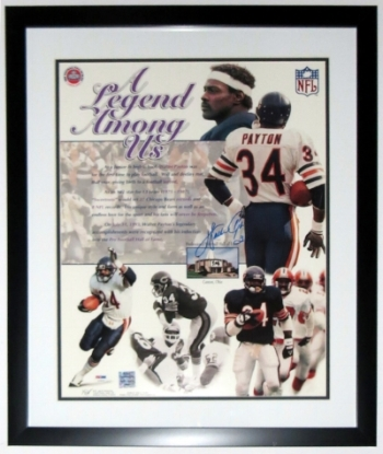 Walter Payton Signed Chicago Bears 16x20 Photo - PSA DNA COA Authenticated - Professionally Framed