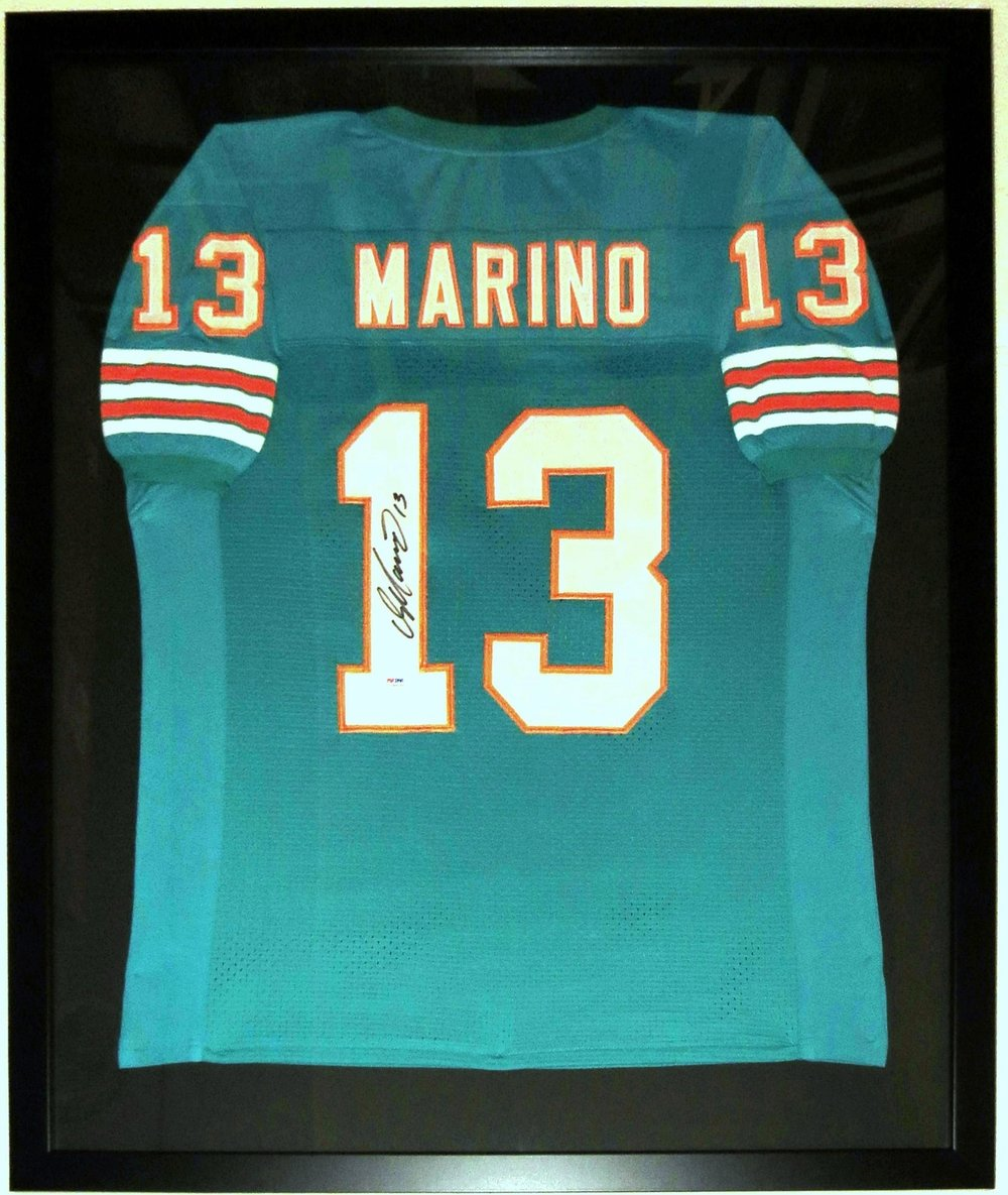 Dan Marino Signed Miami Dolphins Jersey - PSA DNA COA Authenticated - Professionally Framed 32x42