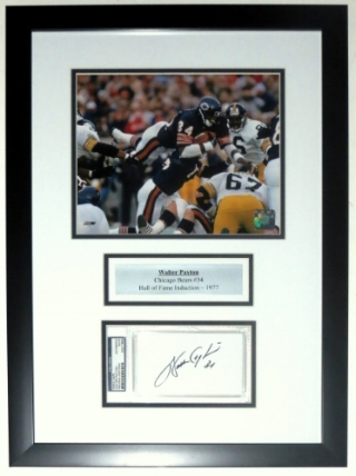 Walter Payton Signed Chicago Bears 8x10 Photo & Signaure Compilation - PSA DNA COA Authenticated - Professionally Framed