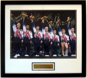 1996 Team USA Magnificent 7 Signed 16x20 Photo - JSA COA Authenticated - Professionally Framed & Plate