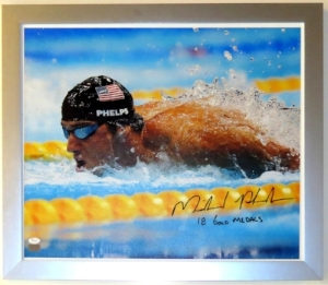 Michael Phelps Signed Team USA 16x20 Photo - JSA COA Authenticated - Professionally Framed