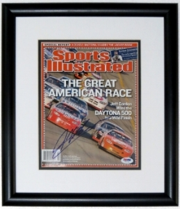 Jeff Gordon Signed Sports Illustrated Magazine - PSA DNA COA Authenticated - Professionally Framed