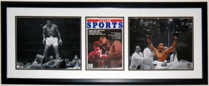 Muhammad Ali Autographed Sports Magazine & 11x14 Photo Set - PSA DNA COA Authenticated - Professionally Framed 38x14