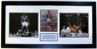 Muhammad Ali Autographed 8x10 Photo - Steiner Sports COA Authenticated - Professionally Framed & 2 11x14 Photo - 34x16