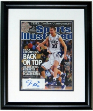 Jon Scheyer Signed Duke Blue Devils National Championship Sports Illustrated - BSI COA Authenticated - Professionally Framed