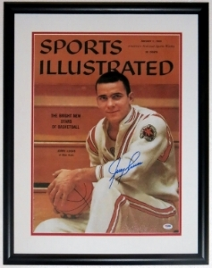 Jerry Lucas Signed Ohio State Buckeyes 16x20 Photo - PSA DNA COA Authenticated - Professionally Framed