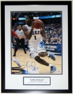 Kyrie Irving Signed Duke Blue Devils 16x20 Photo - PSA DNA COA Authenticated - Professionally Framed with Plate