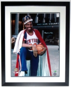 Bernard King Signed New York Knicks 16x20 Photo - Steiner Sports Authenticated COA - Professionally Framed