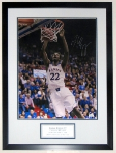 Andrew Wiggins Signed 16x20 Photo - JSA COA Authenticated - Professionally Framed & Plate