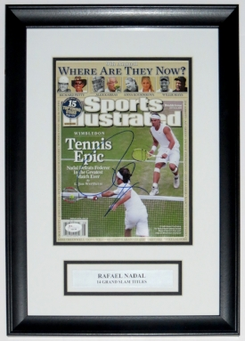 Rafael Nadal Autographed Sports Illustrated Magazine - JSA COA Authenticated - Custom Framed & Plate