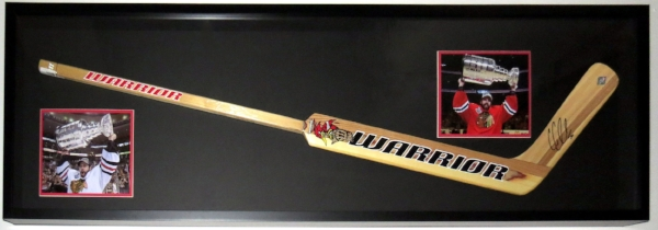 Full Size Goalie Hockey Stick With 8x10 Photographs