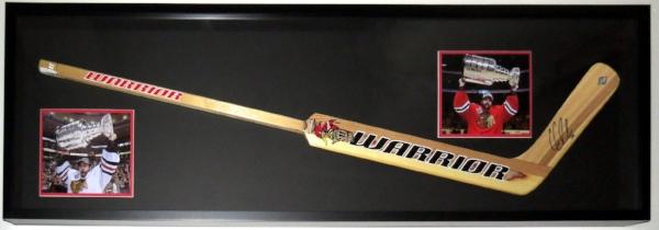 Full Size Goalie Hockey Stick With 8x10 Photographs