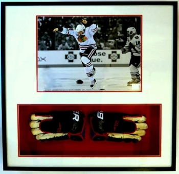 Hockey Gloves and 16x20 Photograph