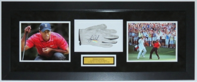 Golf Glove and 8x10 Photograph Custom Framed Shadowbox