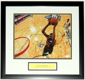 KEVIN DURANT SIGNED 11X14 PHOTO - JSA AUTHENTICATED COA - PROFESSIONALLY FRAMED