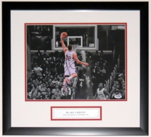 BLAKE GRIFFIN SIGNED CLIPPERS 11X14 PHOTO - PSA DNA COA AUTHENTICATED- PROFESSIONALLY FRAMED