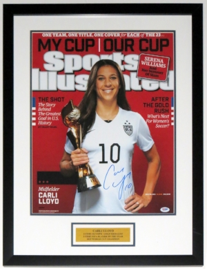 Carli Lloyd Signed 16x20 Photo - PSA DNA COA Authenticated - Professionally Framed & Plate