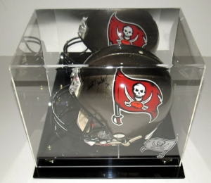 Ronde Barber Signed Buccaneers Authentic Helmet - BAS COA Authenticated - & Display Case