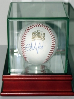 Eddie Vedder Signed 2016 World Series Baseball - BAS COA Authenticated & Display Case