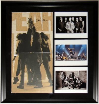 Eddie Vedder Signed Pearl Jam Ten Album - JSA COA Authenticated - Professionally Framed & 3 8x10 Photo 28x28
