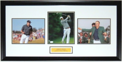 Jordan Spieth Signed 8x10 Photo Compilation - JSA COA Authenticated - Custom Framed & Plate 34x16