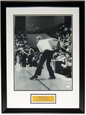 Bobby Knight Signed Indiana Hoosiers 16x20 Photo - JSA COA Authenticated -Professionally Framed & Plate