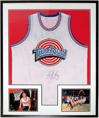 Zach Lavine Signed Space Jam Tune Sqaud Jersey - Beckett Authentication Services COA - Professionally Framed & 2 All Star Game 8x10 Photo 34x42