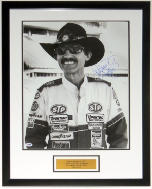Richard Petty Autographed 16x20 Photo - PSA DNA COA Authenticated - Professionally Framed with Plate