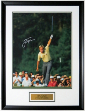 Jack Nicklaus Signed 1986 Masters Putt 16x20 Photo - Fanatics COA Authenticated - Custom Framed & Plate
