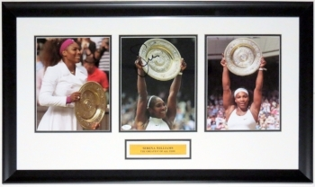 Serena Williams Signed Wimbledon 8x10 Photo Compilation - JSA COA Authenticated - Professionally Framed & Plate
