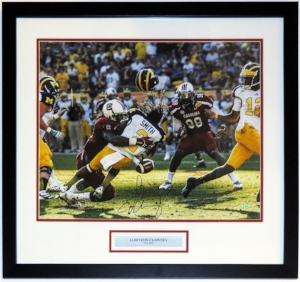 Jadeveon Clowney Signed 'The Hit' 16x20 Photo - Steiner Sports COA Authenticated - Professionally Framed & Plate