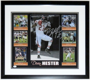 Devin Hester Signed Chicago Bears Touchdown Record 16x20 Photo - JSA COA Authenticated - Professionally Framed