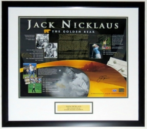 Jack Nicklaus Signed Career Achievement 16x20 Photo - Steiner Sports COA Authenticated- Professionally Framed & Plate