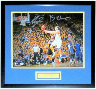 Klay Thompson Signed Golden State Warriors Finals 16x20 Photo - Fanatics COA Authenticated - Professionally Framed & Plate
