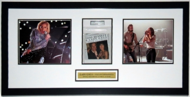 Lady Gaga Signed Album & Super Bowl Half Time Show & A Star is Born 8x10 Photo Compilation - PSA DNA COA Authenticated - Professionally Framed & Plate 34x14