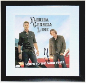 Florida Georgia Line Dual Signed Here's to the Good Time Album - JSA COA Authenticated - Professionally Framed